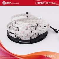 5m 30leds/m LPD6803 6803 Led Strip RGB Dream Color strip IP65 Waterproof in silicon 150led 1 IC drives 3 pixel DC12V Digital