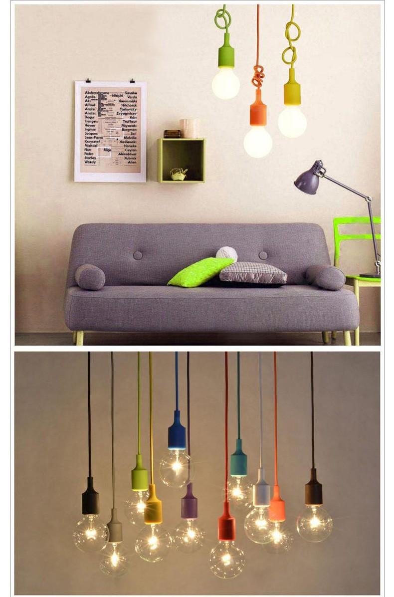 Kleurrijke moderne vintage hanger lamp lampen e27 edison ...