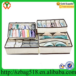 2015 The Newest Design Bra Underwear 4 Drawers Foldable Storage Boxes