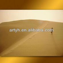Modern Handmade Abstract Landscape Oil Painting of Desert Wall Art