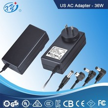 china supplier 12v 1a 1.5a 2a 2.5a 3a us ac dc power adapter for set top box