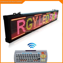 P7.62mm Inside Installtion Rolling Up Red/Green/Yellow Color Message Wireless Led Display Board