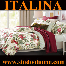 wholesale alibaba American countryside style beautiful floral design full size 196TC 40S cotton bed sheet