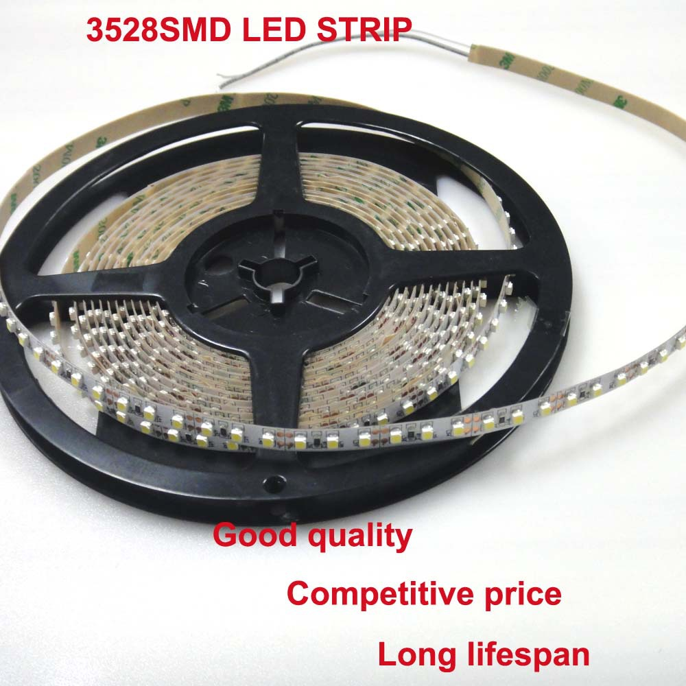 120LEDS/M 8mm 3528 LED Strip 3M acrylic adhesive indoor lighting smd 3528 light strip
