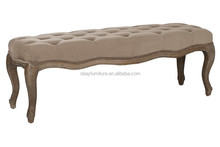 solid wood bench/antique wooden indoor bench/antique wooden footstool