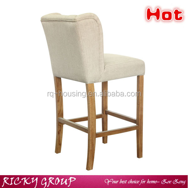 Modern wooden and fabric kitchen high chair high back king chair