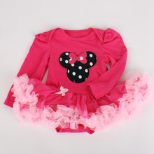 R&H Cotton cute flower printed 2015 baby dress
