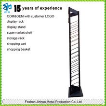 2015 customized wire racks plastic coated of post card display stand/office file stands display shelf