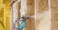 Construction insulation sprayed rigid foam polyurethane