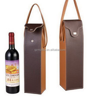 High quality crazy selling leather wine liquor bottle carrier