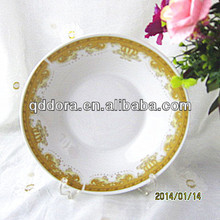 factory directly sale chinese porcelain plates,porcelain round flat plate,porcelain serving plates
