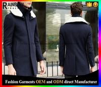 2015 wool long coat men winter china guangzhou clothing manufacturer factory