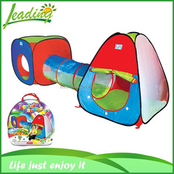 Colorful Kids Children Teepee Tent, With Tunnel Children Play Castle Kids Tent House