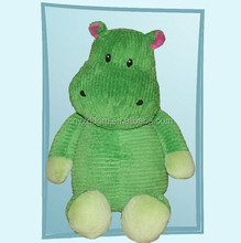 Hot sale plush toys hippo,green hippo plush toy for customize