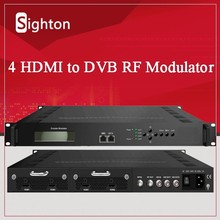 4 hdmi iput to dvb-c modulator;hdmi to cofdm modulator