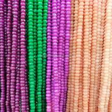 MJ3160 Multicolor faceted jade semi precious stone rondelle beads,gemstone roundel abacus beads