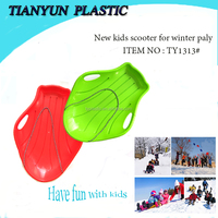 2015 new hot sales durable plastic snow kids kick scooters snowmobile toy for winter sports