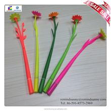 High Quality Wholesale Custom rubber flower ballpoint pen for gift