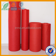 Wedding Red Felt, Ceremony Nonwoven Fabric in polyester fabric