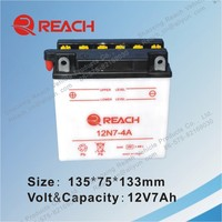 12V 7Ah Rechargeable Lead Acid Motorcycle Battery Hot Sales