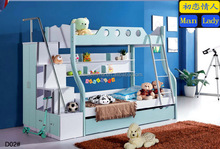 space saving daycare kids wardrobe bed with double bed furniture