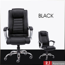 Classic High back executive leather chair swivel mechanism black