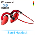 iTreasure wireless esporte fone de ouvido à prova d'água blueooth 4.0 para capacete de bicicleta
