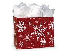 VOGUE Snowflake Flurry Recycled Bag Twist Bag Christmas ASSORT Shopping Paper Bags
