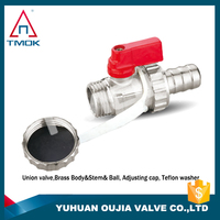 brass double natural gas ball valve Full Port, Shut-Off Valves, 600psi WOG with forged one way nickel-plated Npt threaded lock