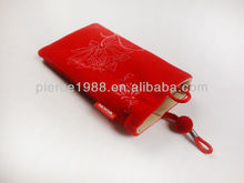 printed red mobile phone bags & cases with belt