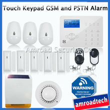 Most Advanced GSM + PSTN Wireless Home Security Burglar Alarm system Fire Alarm, w Externa Solar Powered Siren ST-IIIB