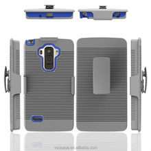 hot sell in Amazon cell phone clip strip defender with stand holster case for BLU D810L