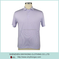 full sublimated printing striped pattern factory man polo t-shirt