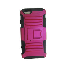Hybrid Armor Stand Case With Belt Clip Holster for iphone 6 Three Layer Silicone PC Case Cover