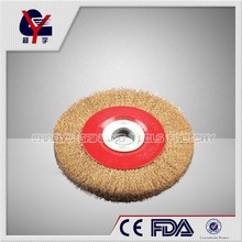stainless crimped steel brush brush with nut