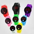 la fábrica de china como personalizar reloj táctil reloj led