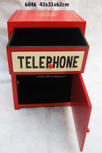 Antique telephone booth cabinet, Handmade Gift British Culture