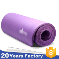 2015 hot sale extra thick NBR foam exercise yoga mat