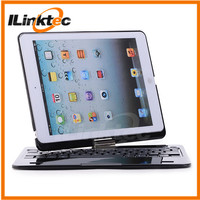 360 degree rotation Bluetooth Keyboard case for ipad air mini bluetooth keyboard case with touchpad