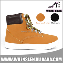 new nice fashionable casual daily tan color nubuck PU high top casual shoes for ladies
