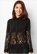 2014 novo preto manga longa modelos atado blusa