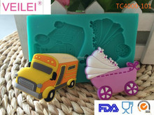 Car And Baby-Car Silicone Fondant Decorating Mold Gum Paste Tool