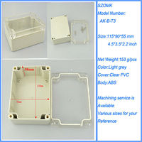 115*90*55 transparent box clear plastic waterproof case ip65 Shenzhen