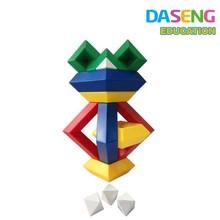 Promotional 3D Funny Plastic Blocks Toys Puzzle Pyramid