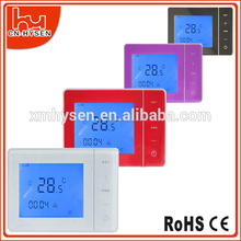 HVAC LCD Display Calefacción Termostato de ambiente con el contraluz colorido