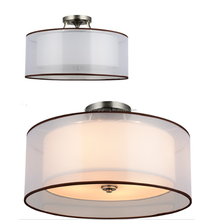 Home Modern Semi Flushmount Ceiling Lamp Fabric,Ceiling Light Fixture