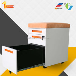 High quality customizable anti tilt office steel 3 drawer mobile pedestal cabinet