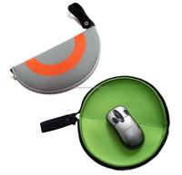 Round Neoprene Mouse Pad Zipper Bag