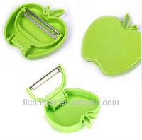 Foldable Apple Shape Plastic Parer Peeler /Practical Mini Fruit Cutter