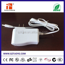 Made in china 5V 9V 12V 0.5A 1A 1.4A 2A 2.5A 3A 3.5*1.35mm tablet charger,wall ac/dc switching power adapter/AC DC power supply